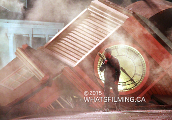 Once Upon a Time Filming in Storybrooke Ruins