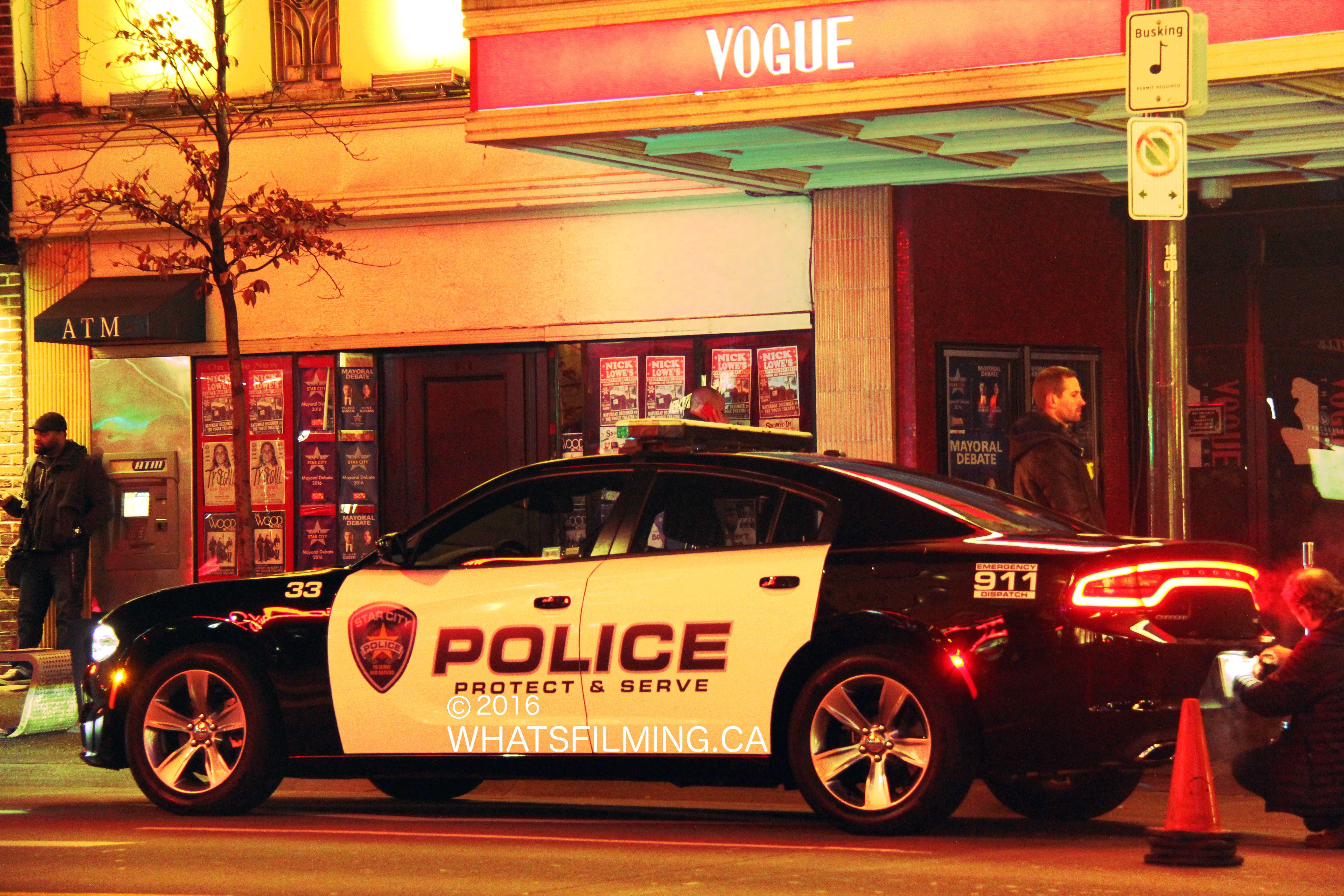 Arrow Filming at Vogue Theatre
