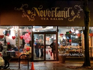 All Things Valentine Filming at Neverland Tea Salon