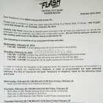The Flash Filming Notice for Vancouver Belkin House February 25, 2016