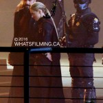 Casper Crump & Jessica Sipos filming Legends of Tomorrow