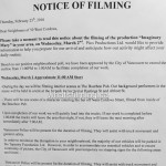 Imaginary Mary Filming Notice for March 2nd at The Bourbon Pub in Vancouver
