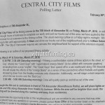 The Flash Filming Notice For Alexander Street March 4th