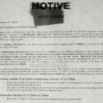 Motive filming notice