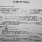 Fifty Shades Darker/Freed Filming Notice for March 4, 2016 at 120 Powell Street