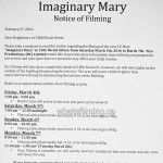 Imaginary Mary Filming at Kensington Place Nicola Street Vancouver March 5, 6, 7, 2016