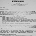 When We Rise Filming Notice for Keefer Street Vancouver March 7, 2016