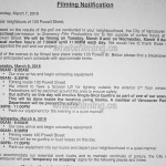 Fifty Shades Darker/Freed Filming Notice 120 Powell Vancouver March 8-9, 2016