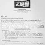 Zoo Filming Filming at Queen Elizabeth Theatre Vancouver March 8, 2016
