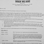 When We Rise Filming Notice Arch Alley Cambie Steet Vancouver March 11, 2016