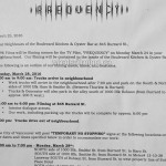 Frequency Filming Notice March 28, 2016 Boulevard Kitchener Oyster Bar Burrard