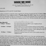 When We Rise Filming Notice for March 29, 2016 Carrall Street Vancouver