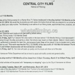 The Flash Filming Notice March 31, 2016 Melville Street Vancouver