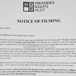 Mirandas Rights Filming Notice April 3, 2016 Vancouver Art Gallery
