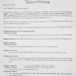 Mirandas Rights Filming Notice April 4, 5, 2016 Anvil Centre New Westminster