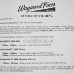 Wayward Pines Filming Notice April 6, 2016 E Pender St Vancouver
