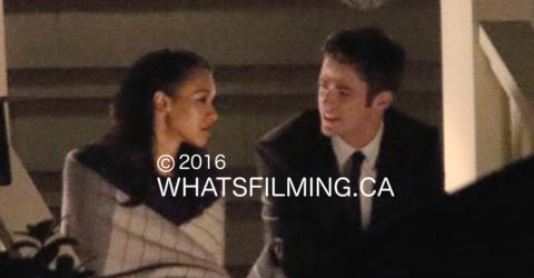 The Flash Season 2 Finale Filming Barry Allen Iris West