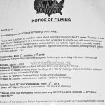 The Man in the High Castle Filming Notice April 11, 2016 Arch Alley Vancouver