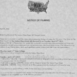 The Man in the High Castle Filming Notice April 12, 2016 Sutton Hotel Burrard Street Vancouver
