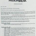 Prison Break Filming Notice April 19, 2016 Cloverdale