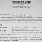 When We Rise Filming Notice April 22, 2016 Powell Vancouver