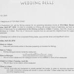 Wedding Bells Filming Notice April 25, 2016 Bodega Main Street Vancouver