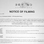 Beyond Filming Notice May 9, 2016 Ironworks Alexander Vancouver