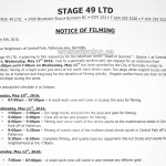 Dead of Summer Filming Notice May 11, 2016 Central Park