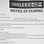 Travelers Filming Notice May 13, 2016 Powell St Gastown Vancouver