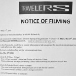 Travelers Filming Notice May 19, 2016 Vancouver Cathedral Plaza Richards St