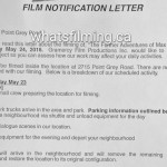 Fifty Shades Filming Notice May 24, 2016 Point Grey Road Kitsilano Vancouver