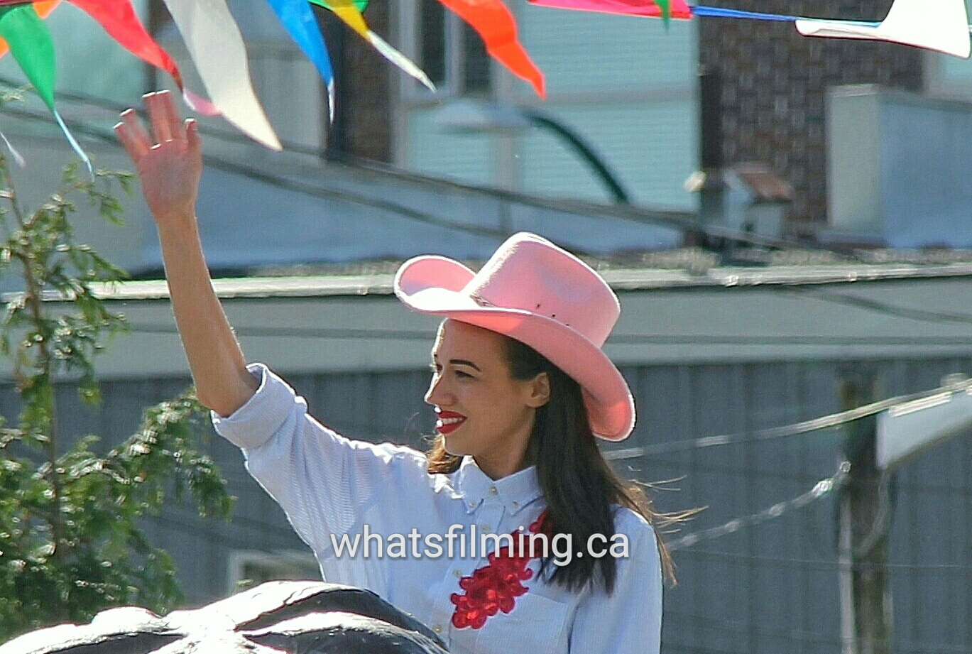 Miranda Sings aka Colleen Evans filming Haters Back Off in Port Coquitlam