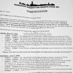 Managing Manhattan Filming Notice May 31- June 1, 2016 Howe & Granville Streets Vancouver