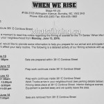 When We Rise Filming Notice June 13, 2016 Cordova St Vancouver