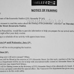 Travelers Filming Notice June 16, 2016 Ironworks Studio, Alexander St Vancouver