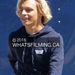 Ross Lynch in between takes during Status Update filming
