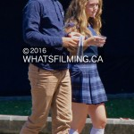 Ross Lynch & Brec Bassinger walking to set after break during Status Update filming