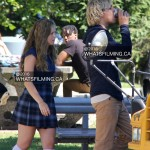 Ross Lynch & Brec Bassinger filming Status Update movie in Vancouver