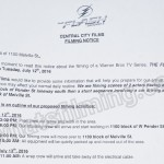 The Flash Filming Notice July 12, 2016 W Pender St & Melville St, Vancouver