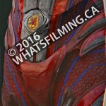 Power Rangers Movie: Closeup of the Red Ranger suit's lower torso