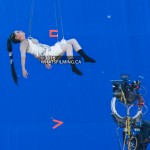 Power Rangers Movie: Rita Repulsa air wall bluescreen stunt work at Boundary Rd & E Kent Ave