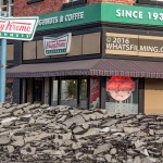 Power Rangers Movie: A fake Krispy Creme donut shop was added to Steveston Village