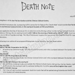 Death Note Filming Notice July 26, 2016 Sun Yat Sen Garden & Chinese Cultural Centre, Carrall St, Vancouver