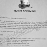 The Romeo Section Filming Notice July 29, 2016 at Penthouse Nightclub, Seymour St, Vancouver