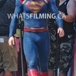 Tyler Hoechlin in the Superman Suit for Supergirl in Vancouver