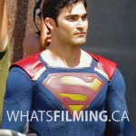 Tyler Hoechlin as Superman for Supergirl Season 2 in Vancouver