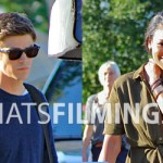 Grant Gustin & Candice Patton Filming The Flash Season 3 Episode 2 in Vancouver