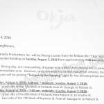 Okja Filming Notice August 7, 2016 at Telus Garden in Vancouver