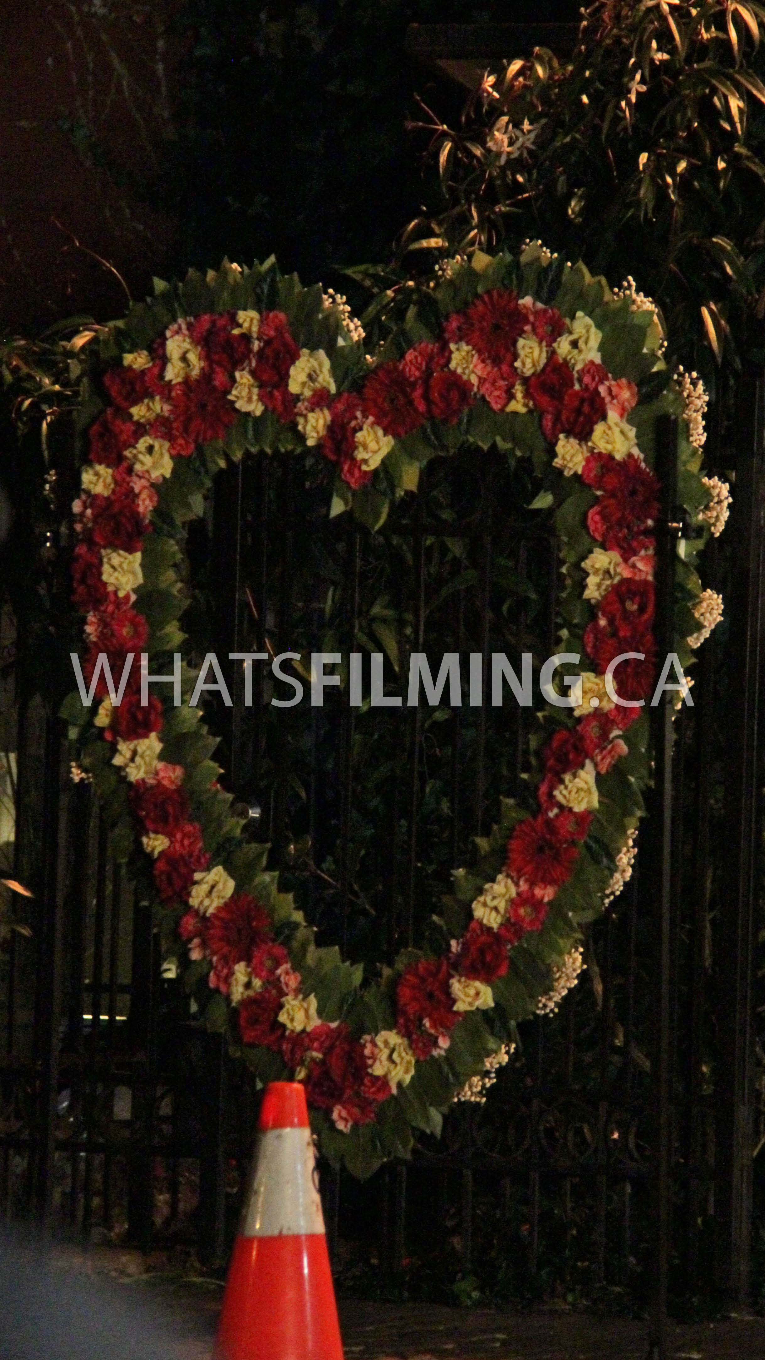 Barrys Heart Shaped Prop For Iris Made From Flowers Whats Filming