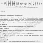 Frequency Filming Notice August 17, 2016 at Brickhouse on Main St in Vancouver